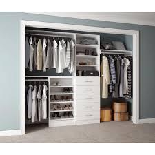 assembled reach in 15 in d x 120 in w x 84 in h calabria in a bianco white melamine 11 shelves closet system