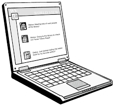 computer clipart black and white. clip art by christy stallop computer clipart black and white m