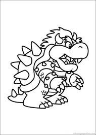 Small Picture Big Dragon Mario coloring pages Mario Bros games Mario Bros
