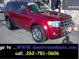 2008 ford escape tire size 2008 ford escape limited 4dr suv in butler wi dons tire auto