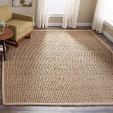safavieh casual natural fiber natural and beige border seagrass rug 6 x 9