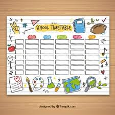 Picture Of Time Table Chart Timetable Vectors Photos And Psd Files Free Download