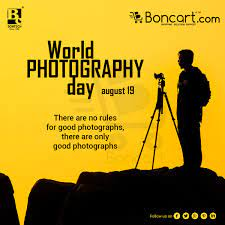 World Photography Day - August 19 There are no rules for good photographs,  there are only good photographs. | World photography day, Photography day,  Photography