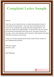Letters Of Complaints Samples Complaint Letter Sample Format Template Example