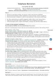 Purchasing Resume Sample Procurement Resume Examples Nice Specialist