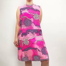 Neon Designer Dress 60s Vintage Neon Pink Designer Dress This Gorgeous Depop