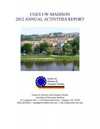 2012 CGES Annual Activities Report - Center for German and ...