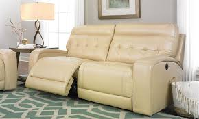 beige reclining sofa. Exellent Reclining Tufted Dual Power Reclining Sofa In Cream Throughout Beige S