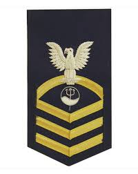 Marine Science Technician Vanguard Coast Guard E7 Male Rating Badge Marine Science Technician Blue