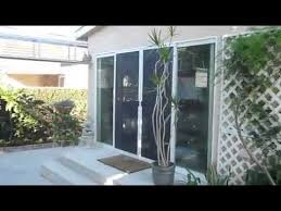majestec invisible double patio sliding security screen doors installed in long beach california you