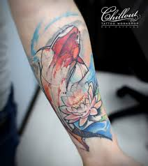 тату рыба графика Chillout Tattoo Workshop