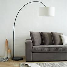 modern standing lamp. Overarching Linen Shade Floor Lamp - Antique Bronze Modern Standing S