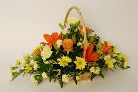 Basket Flower Decoration Orchid Flower Basket Floral Delivery