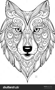 Small Picture Hand Drawn Doodle Zentangle Lion Illustration Decorative Ornate