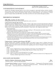 Customer Service Manager Resume Resume Cover Letter Template