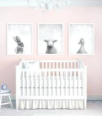 girl nursery art a set of three animal prints in black and white contrasts with the pink walls vintage baby nursery wall art