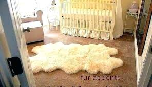 fur table runner faux awesome rug great target rugs and white brown collection