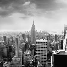 la size black white 3d wall mural night scenery new york city custom 3d avec