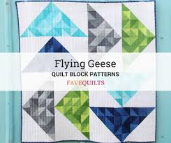 Flying Geese Quilt Pattern Amazing 48 Free Flying Geese Quilt Block Patterns FaveQuilts