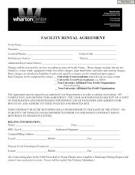 Event Contract Template Invitation Templates Facility Rental