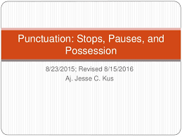 English Composition Punctuation