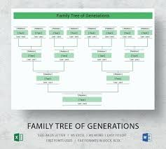 Family Tree Template Word 2010 – Mklaw