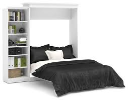 bestar versatile 92 queen wall bed kit white transitional murphy beds by beyond s