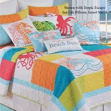 tropic escape quilt white