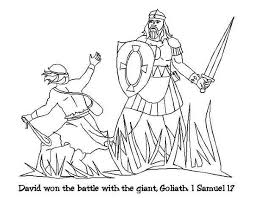 Small Picture David And Goliath Coloring Pages Mewarnai Religious