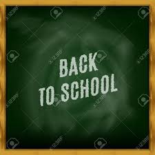 School Chalkboard Background Back To School Chalkboard Background Stock Vector Stock Photo