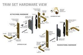 door parts door latch parts names