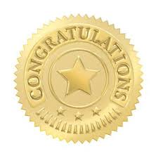 32 Gold Embossed Congratulations Certificate Award Seal Stickers ...