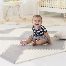 skip hop interlocking geo foam floor tiles grey cream