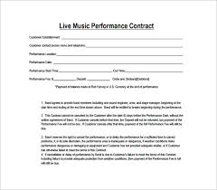 Performance Contract Template 14 Download Free Documents