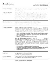 Actuary Resume Free Actuary Resume Example Resume Pinterest Resume examples 1