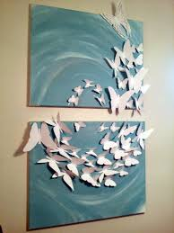 3d madam erfly flutterby set of 2 24x36 painted canvas