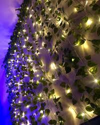 led wall vine lights dreamy room