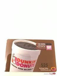 25 dunkin donuts gift card