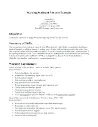 Resume For Cna With No Experience New Sample Certified Nursing Assistant Resume Certified Nursing