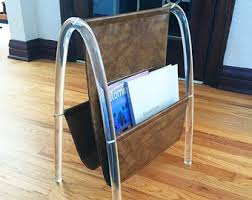 Faux Leather Magazine Holder Leather magazine rack Etsy 43