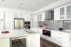 kitchen design white cabinets white appliances. Unique White Lovely Modern Kitchen With White Appliances And Modren Design  Cabinets How Where Why To And