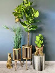 <b>Set of 2 Bamboo</b> Planters – Olive and Sage