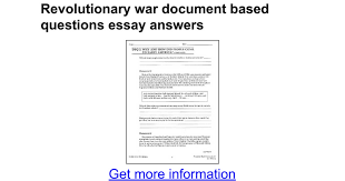 revolutionary war document based questions essay answers google docs