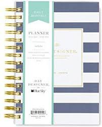 Day Designer Blue Sky Daily Monthly Blue Sky Day Designer For 2018 2019 Academic Year Daily