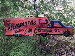 camping signs 5th wheel camper and truck wooden sign with