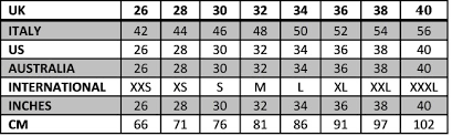 Men S Pant Size Conversion Chart To Women S Sizing Womens Jeans Online Charts Collection