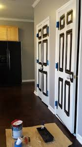 FOCAL POINT STYLING: How To Paint Interior Doors Black & Update ...