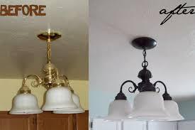 spray paint light fixtures