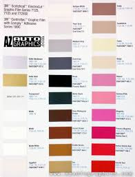 3m Scotchcal Vinyl Color Chart 3m 7125