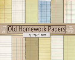 Lined Papers Cool Vintage School Paper Lined Paper Digital Paper Scrapbook Etsy